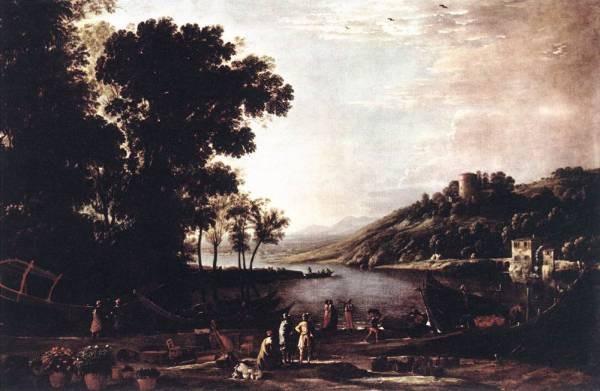 Landscape with Merchants WGA